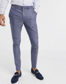 Selected Homme skinny fit stretch suit pants in bl
