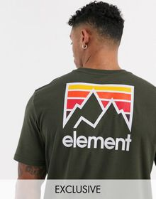 Element Joint t-shirt in green Exclusive at ASOS