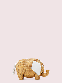 Kate Spade tiny wicker large elephant crossbody