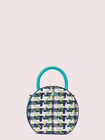 Kate Spade andi tweed mini chain canteen bag