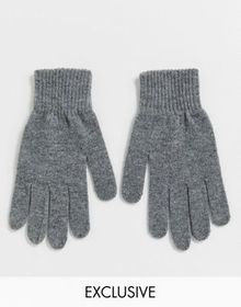 My Accessories London Exclusive gray knitted glove