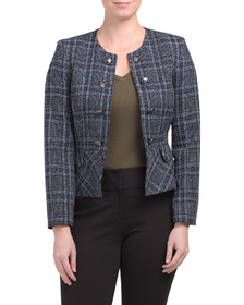 Petite Faux Double Breasted Jacket