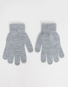SVNX touch screen gloves in gray marl