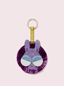 Kate Spade spademals raffia money bunny dangle key