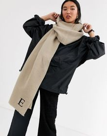 ASOS DESIGN personalized scarf with E initial