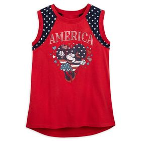 Disney Minnie Mouse America Tank Top for Girls – W