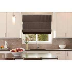 Roller Shade Cordless Roman Shade - Chocolate