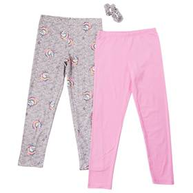 Girls (4-6x) Colette Lilly 2pk. Unicorn & Solid Le