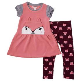 Girls(4-6x) Colette Lilly 3pc. Fox Jumper with Sol