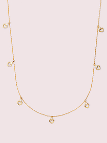 Kate Spade shining spade long scatter necklace