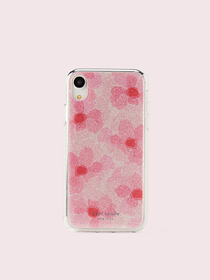 Kate Spade glitter abstract peony iphone xr case