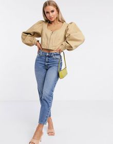 ASOS DESIGN corset jacket with extreme sleeve in s