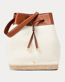 Ralph Lauren Canvas Debby Drawstring Bag