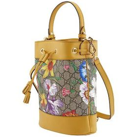 GucciGucci Ophidia GG Flora Pattern Small Bucket B