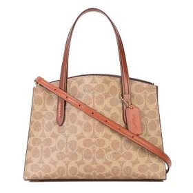 CoachLadies Signature Canvas Charlie Carryall