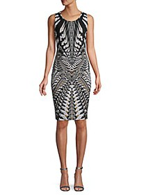 Roberto Cavalli Printed Sleeveless Sheath Dress