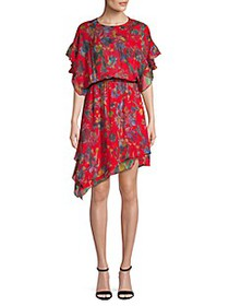 IRO Jeans Ruffle Floral Silk Dress