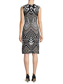 Roberto Cavalli Printed Sheath Dress