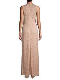 JS Collections Lace Sleeveless Column Gown