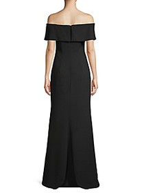 Carmen Marc Valvo Infusion Off-The-Shoulder Crepe