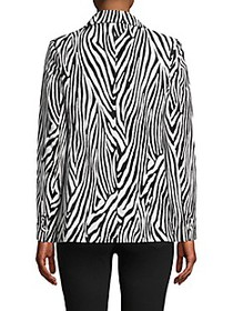 FRAME DENIM Zebra Striped Cotton-Blend Blazer