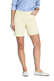 "Lands End Women's Mid Rise 7"" Chino Shorts"