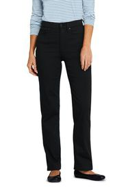 Lands End Women's High Rise Straight Leg Twill Jea