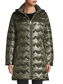 Kate Spade New York Scallop-Quilted Down Coat