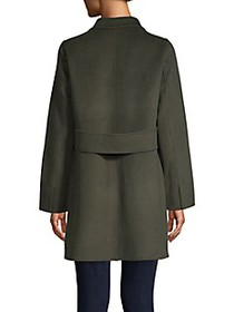 T Tahari Sophia Single-Breasted Peacoat