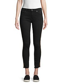 7 For All Mankind Gwenevere Mid-Rise Leopard-Print
