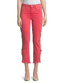 Paige Jeans Hoxton Vented Straight-Leg Cropped Jea
