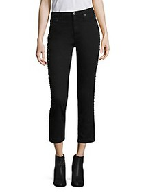 AG Jeans Isabelle Stud High-Rise Cropped Jeans