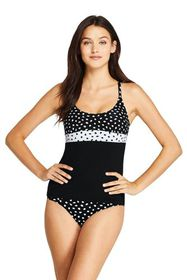 Lands End Women's Scoop Neck Cross Back Tankini To