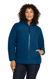 Lands End Women's Plus Size Reversible Insulated R