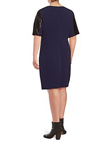 Alexia Admor Plus Short-Sleeve Shift Dress