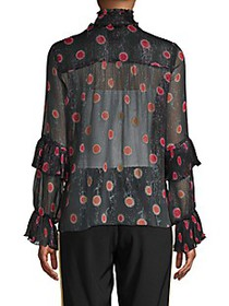 Anna Sui Pleated Pop Bouquet Blouse