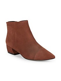 AVA & AIDEN Point Toe Suede Booties
