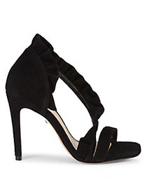 Schutz Aime Suede Leather d'Orsay High-Heel Sandal