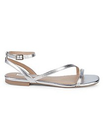 Saks Fifth Avenue Ono Metallic Strappy Sandals