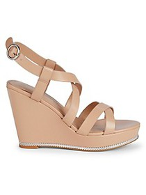 BCBGeneration Janice Chain-Detail Wedge Sandals