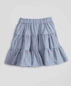 Brooks Brothers Girls Seersucker Check Ruffle Skir