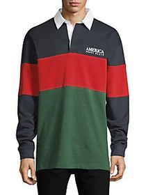 Perry Ellis America Colorblock Cotton Polo