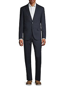 Karl Lagerfeld Slim-Fit Checked Notch Lapel Suit