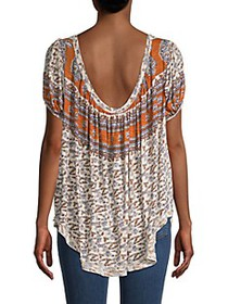 Free People Paisley & Floral Top