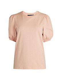 French Connection Puff-Sleeve Cotton Tee