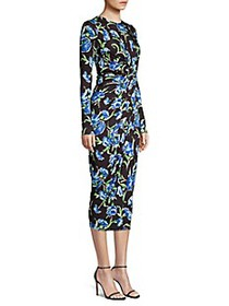 Jason Wu Collection Floral Ruched Dress