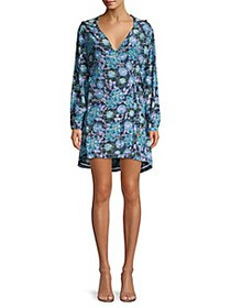 Paloma Blue Farah Hooded Floral Wrap Dress