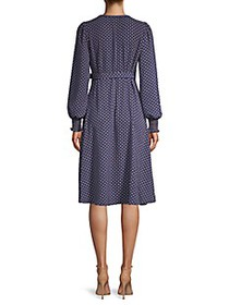 Max Studio Printed Belted A-Line Dress