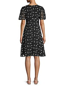 Alexia Admor Daisy-Print Fit-&-Flare Dress