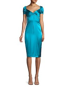 Alexis Cadiz Satin Silk Sheath Dress